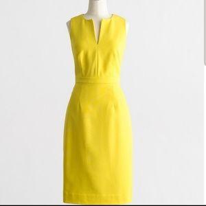 J CREW split neck sheath pencil skirt work dress 6